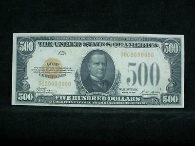 NobleSpirit NO RESERVE {3970} ABN Archive $500 Gold Cert. Uniface Trial Proof