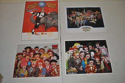 4 Pictures Clown Alley Ringliing Bros Circus RBBB photo Cast Photo's