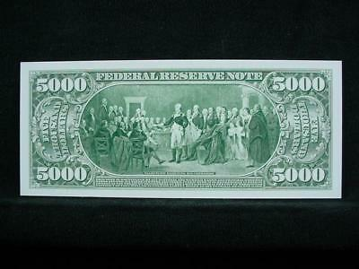 NobleSpirit NO RESERVE {3970} ABN Archive $5,000 Uniface Trial Proof On Card