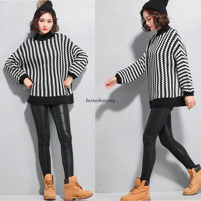Women Winter Black Casual High Waist Stretchy Slim Pencil Skinny Leather Pants