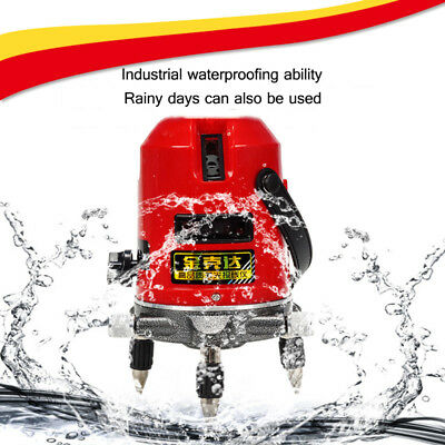 5 Line 6 Points Automatic Self Leveling Rotary Laser Level Meter Measure US Ship
