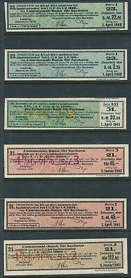 Bond Germany Reich Coupon WWII 1941-2 3rd Reich Coupon Series Stocks Sachsen U 3