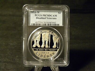 2010 Disabled Veterans Commemorative Silver Dollar PCGS Proof 70 DCAM