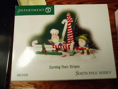 DEPT 56 NORTH POLE VILLAGE Accessory EARNING THEIR STRIPES NIB