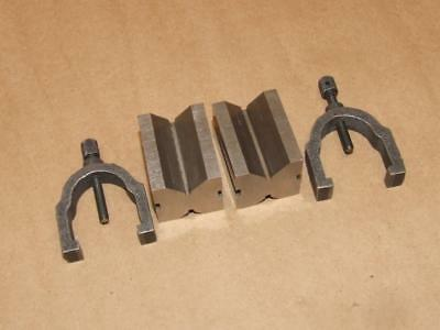 Vintage Brown & Sharpe No 750A V Blocks and Clamps in Original Box