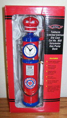 1930's Replica Red Crown Volumeter Gas Pump Bank Die Cast Limited Edition
