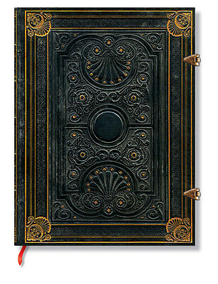 Paperblanks Lined Writing Journal gold Foiled Nocturnele Black Ultra Size 7x9