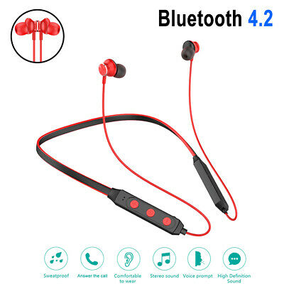 Wireless Bluetooth Stereo Headset Headphone Sport Earphone For Samsung iPhone LG