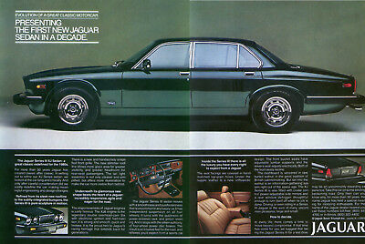 Jaguar Series III XJ First New Sedan in Decade ad 1980