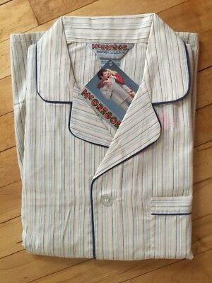 New Old Stock vtg McGregor men 2pc cotton blnd pajamas classic Style Med