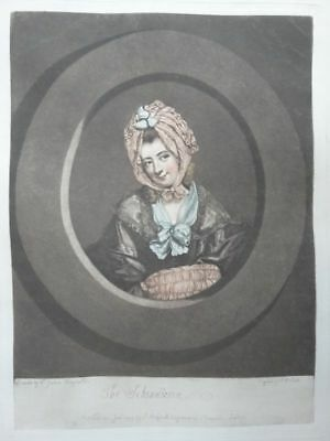 The Scheindlerin - Lithographie Smith Reynolds - Portrait Faksimile - 1850
