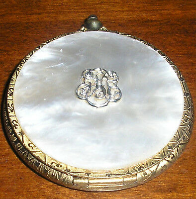 Vintage Estee Lauder Faux Mother of Pearl Stop Watch Powder Compact Honey Glow