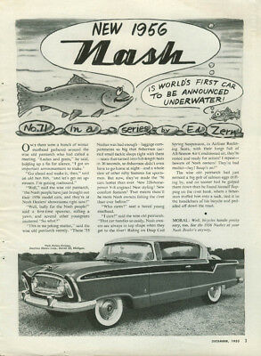 World's 1st Car to be Announced Underwater Nash Country Club ad by Ed Zern 1956