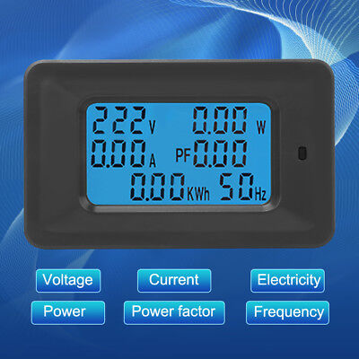6 IN 1 Digital AC Voltage Meter 100A/20A 110~250V Energy Meter Ammeter LCD Panel