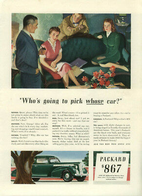 Who's going to pick whose car? Packard ad 1940