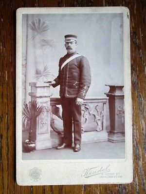Victorian Soldier, Full Uniform, Cap - Cabinet Photo By Kendal, Manchester