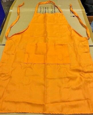 Orange Apron With 2 Pockets Cake Chef Baking Grill Coffee Shop Cooking Cake Uk