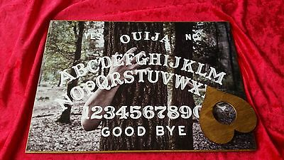Wooden Ouija Board Spirit Contact & Planchette ghost hunt Instructions magic