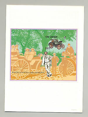 Gambia #1393 Automobiles, Mercedes Benz 1v S/S Imperf Proof in Folder