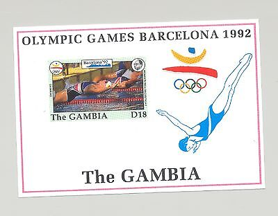 Gambia #1274 Barcelona Olympics 1v S/S Imperf Proof