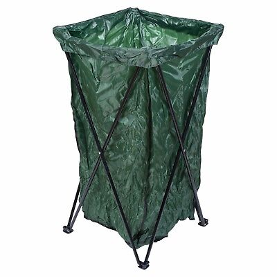 Garden Waste Rubbish Bag Metal Stand Large Free Standing Reuse Collapsible Sack