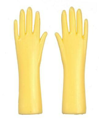 Melody Jane Dolls House Yellow Rubber Gloves 1:12 Scale Kitchen Accessory