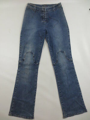 Stretch Jeans STREET ONE Schnürung Stretchjeans Schlag 34 36 ca 28 blue used C12