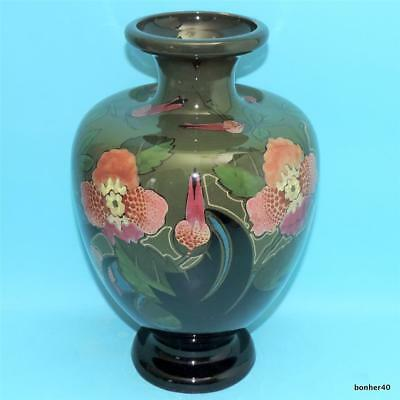 Art-Crafts Gouda Pzh Dutch Folk Art Nouveau High Glazed Plateel Vase 1905S