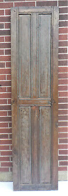 "SPANISH COLONIAL ANTIQUE WOODEN DOOR PANEL MEXICO 87"" x 22"" x 1 1/2"" ""cc"""