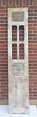 "SPANISH COLONIAL ANTIQUE WOODEN DOOR OLD MEXICO 91 1/4"" x 17 1/2"" x 1 3/8"" ""dd"""