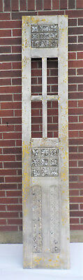 "SPANISH COLONIAL ANTIQUE WOODEN DOOR OLD MEXICO 91 1/4"" x 16 5/8"" x 1 3/8"" ""ff"""