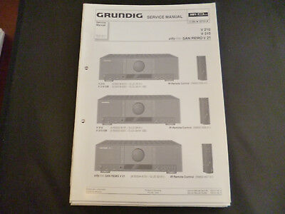Fein Service Manual-anleitung Für Grundig V 1 Tv, Video & Audio