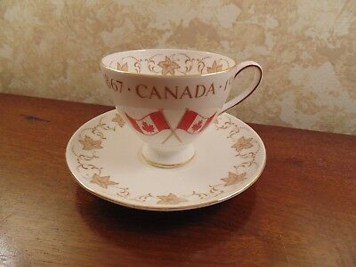 Royal Chelsea Cup and Saucer - Canada Centennial - 1867-1967