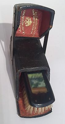 Antique Victorian Grooming Brush & Mirror Original Fitted Box J. Ritter German