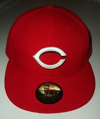 NEW ERA 59FIFTY Fitted 7 3/4 MLB CINCINNATI REDS BASEBALL CAP NEW With Stickers