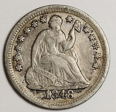 1848-o Liberty Seated Half Dime.  X.F.  117288