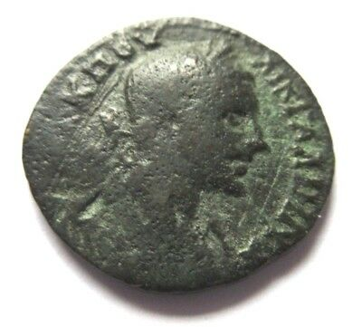 Ae-27 of Gallienus from a unknown eastern mint  Rv. rivergod lying left