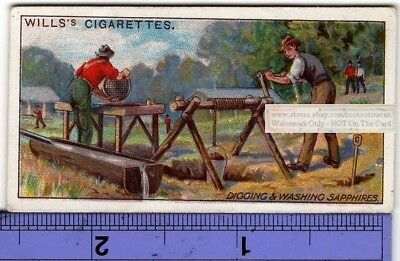 Sapphine Gems Digging And Washing Queensland Australia 100+ Y/O Trade Ad Card