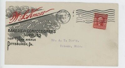 Mr Fancy Cancel W L Knorr Mfg Baker Confectioners Supplies Pittsburgh '07 #3657