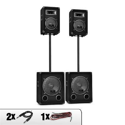 "Set Sono Dj Pa Complet Malone 2.2 Etages Pack Enceintes Subwoofer 12"" 2200W Max"