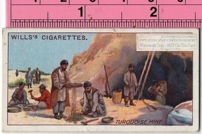 Turquoise Gem Mine Middle East Persia 100+ Y/O Trade Ad Card