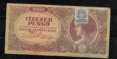 HUNGARY #119B VERY good CIRCULATED 1945 10000 PENGO BANKNOTE PAPER MONEY NOTE
