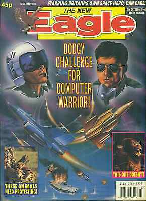 THE NEW EAGLE weekly British comic book October 6, 1990 VG+