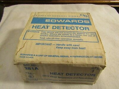 General Signal GS Edwards Heat Detector 281A 135 Degrees  Rate of Rise New Stock