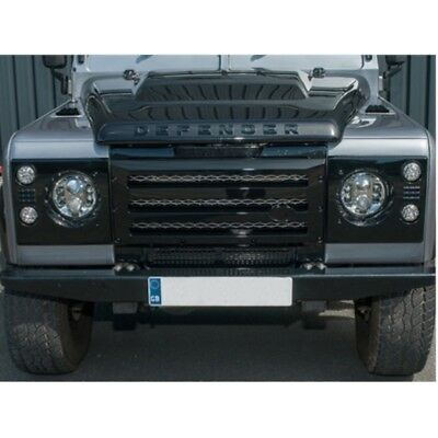 Defender XS Grille & Headlamp Surround Gloss Black With Silver Mesh - DA1968