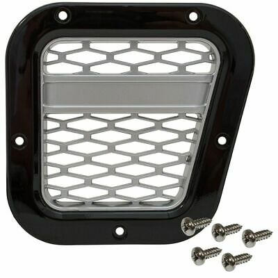 Defender XS Side Air Intake Grille Gloss Black With Silver Mesh - DA1970