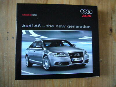 Audi A6 press kit with a CD & 2 booklets in box, excellent condition, 2008