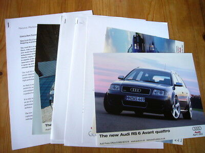 Audi S6 & RS6 press releases and photos, 1999-2002, rare, excellent condition