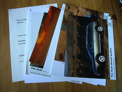 Audi A6 Allroad press releases and photos, 2000-2003, rare, excellent condition
