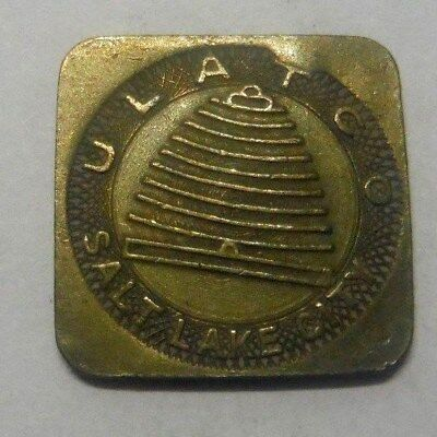 Salt Lake City Ut Transit Token 750C Ulat Co Childs Fare  Ages 5 To 12 Bee Hive